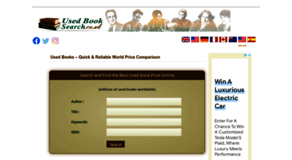 usedbooksearch.co.uk - search for used books  second hand book online price comparison
