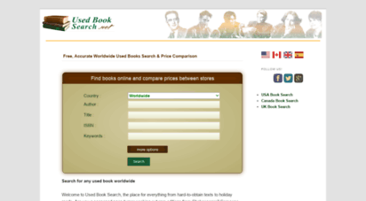usedbooksearch.net - used books online search  best price on second hand books