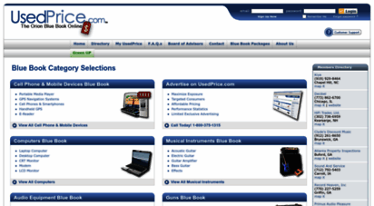 usedprice.com - used equipment blue book values and online fair market value price guides for guns, computers, audio equipment, musical instruments and more by usedprice.com