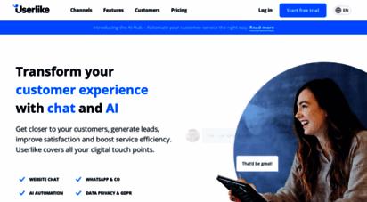 userlike.com - live-chat-software für websites und messaging-kanäle  gratis & premium  userlike