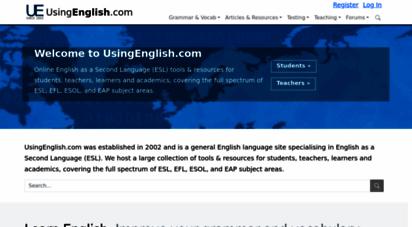 usingenglish.com - english language esl learning online - usingenglish.com