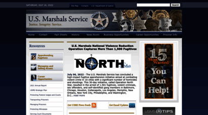 usmarshals.gov - u.s. marshals home page