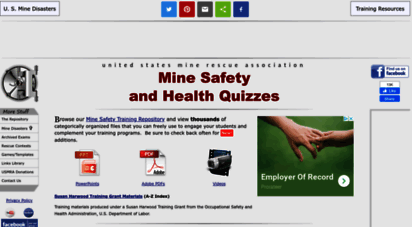 Welcome to Usmra com - Mine Safety and Health Quizzes from the USMRA