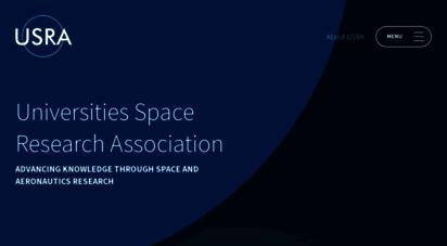 usra.edu - home  usra: universities space research ssociation
