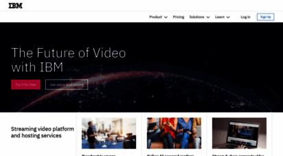 ustream.tv - streaming video platform & hosting services  watson media