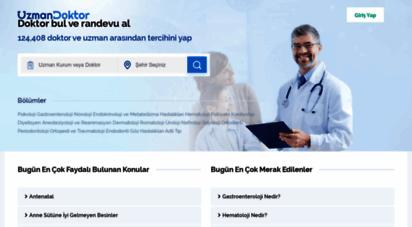 uzmandoktor.net - güvenilir sağlık sitesi uzmandoktor.net