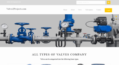 valves2projects.com - valves2projects.com  india´s first company and website dedicated to valves companies!
