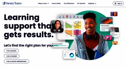 varsitytutors.com - private tutoring, online tutoring, in-home tutoring - varsity tutors