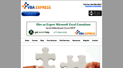 vbaexpress.com - expert microsoft help, with all of the microsoft applications from excel programming, access training to our free microsoft vba forums