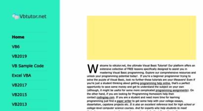 Welcome to Vbtutor net - - Visual Basic Tutorials