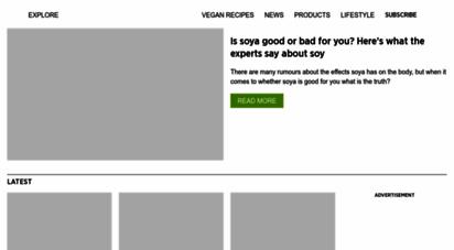 veganfoodandliving.com - vegan food & living  vegan magazine