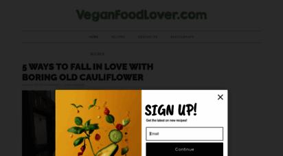 veganfoodlover.com - vegan food lover » vegan recipes, dining guides, & more...