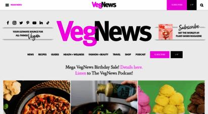 vegnews.com - vegnews: your ultimate source for all-things vegan