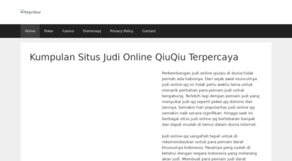 Welcome To Veprikov Com Kumpulan Situs Judi Online Qiuqiu Terpercaya Veprikov