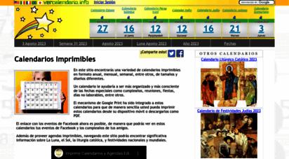 vercalendario.info - calendarios imprimibles gratis - grandes y pequeños