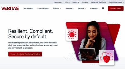 veritas.com - veritas  the leader in enterprise data protection