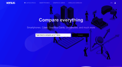 versus.com - versus  compare anything, from smartphones to cities