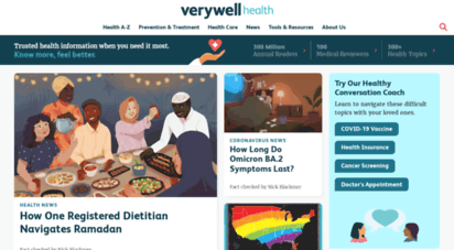 verywell.com - verywell health - know more. feel better.