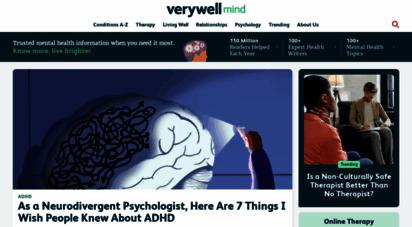 verywellmind.com - verywell mind - know more. live brighter.
