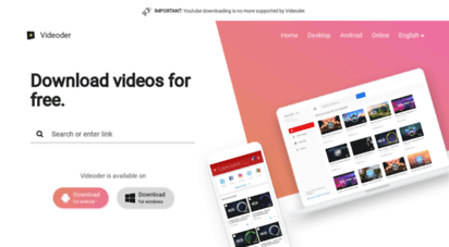 videoder.net - videoder - free youtube video and music downloader for android and pc