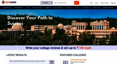 vidyavision.com - exam results 2020  top colleges  top universities  top b-schools in india