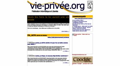 vie-privee.org - fédération informatique et libertés
