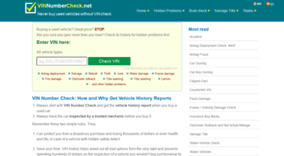 Welcome to Vinnumbercheck net - VIN Number Check | Check VIN
