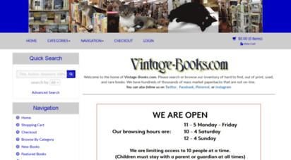 vintage-books.com - home page - vintage books