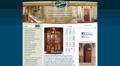 vintagedoors.com - vintage doors - custom handcrafted solid wood doors, screen/storm, dutch doors, interior, exterior, entrance