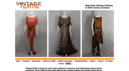 vintagetextile.com - vintagetextile  vintage clothing  vintage costume