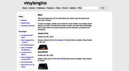 vinylengine.com - vinyl engine - the home of the turntable
