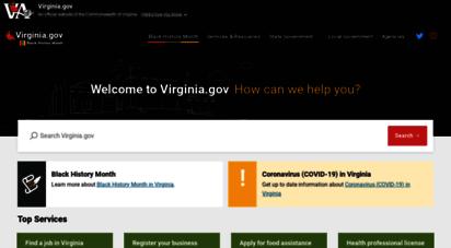 virginia.gov - home  virginia.gov