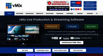 vmix.com - live video streaming software  vmix