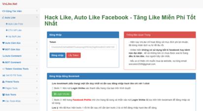 vnlike.net - hack like facebook - auto like facebook - tăng like facebook - hack like việt - hack like miễn phí
