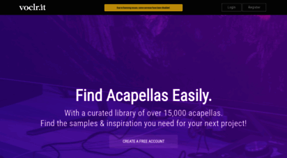voclr.it - free studio acapellas for music producers & sound engineers