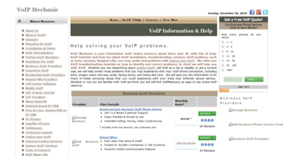 voipmechanic.com - voip troubleshooting help tutorials, information, installation, and setup instructions.