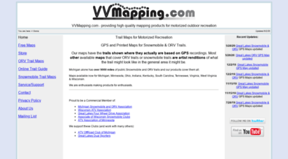 vvmapping.com - vvmapping.com - gps and printable maps - snowmobile and orv trails