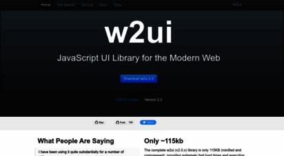 w2ui.com - home  javascript ui - w2ui