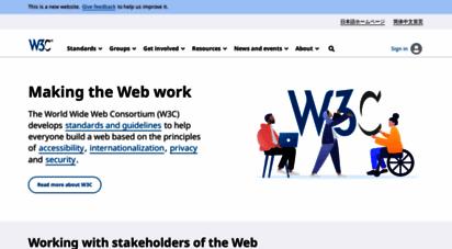 w3.org - world wide web consortium w3c