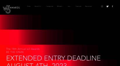 w3award.com - home - w3 awards