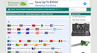 w3newslive.com - world news  list of all world newspapers and news sites