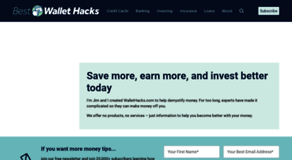 wallethacks.com - best wallet hacks - strategies & tactics for getting ahead financially and in life