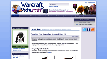 warcraftpets.com - warcraftpets.com - wow vanity pets, companions & non combat pets