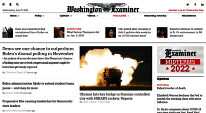 washingtonexaminer.com - washington examiner: political news and anlysis about congress, the president, and the federal government