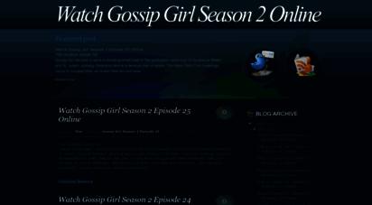 Watch gossip girl episodes online   download gossip girl episodes free.