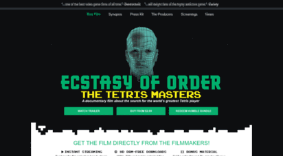Welcome To Watch Ecstasyoforder Com Ecstasy Of Order The Tetris