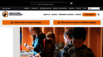 wcdsb.ca - welcome to waterloo region´s catholic schools
