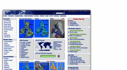 weatheronline.co.uk - weather online uk - current weather and weather forecast worldwide