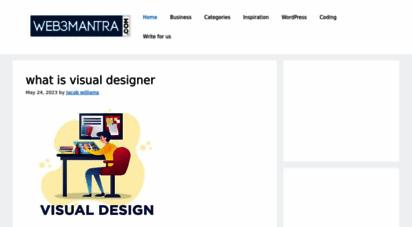 web3mantra.com - web design, web development, graphic design resources, tips and tutorials