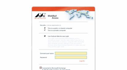webmail.marvell.com -